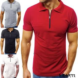 Men's Slim Fit Polo Shirt Short Sleeve Casual Solid Color Go