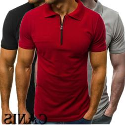 Men's Slim Fit Polo Shirts Short Sleeve Casual Golf T-Shirt