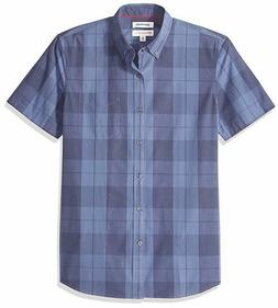 Goodthreads Men's Slim-Fit Short-Sleeve Large-Scale Plaid Sh