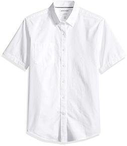 men s slim fit short sleeve solid
