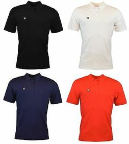 Fila Men's Solid Color Short Sleeve Logo Polo Shirt