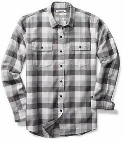 Goodthreads Men's Standard-Fit Long-Sleeve Buffalo Plaid Her