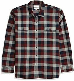 Goodthreads Men's Standard-Fit Long-Sleeve Plaid Herringbone