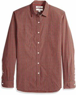 Goodthreads Men's Standard-Fit Long-Sleeve Plaid Poplin Shir