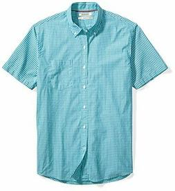 Goodthreads Men's Standard-Fit Short-Sleeve Gingham Poplin S