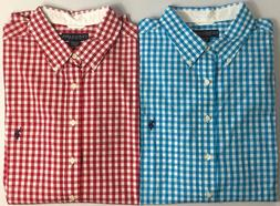 Men's US Polo Assn Big & Tall Large Gingham Check Short Slee