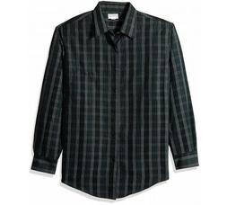 Haggar  Men's XXL Black Striped Long Sleeve Button-Down Casu