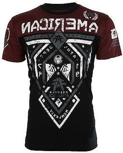 AMERICAN FIGHTER Men T-Shirt FAIRBANKS Athletic BLACK RUSTED