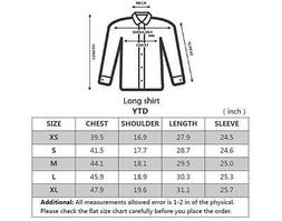 YTD Mens 100% Cotton Casual Slim Fit Long Sleeve Button, P-b