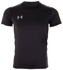 UNDER ARMOUR Mens Athletic T-Shirt BLACK GREY GRAPHIC Semi F
