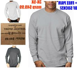 Mens BIG & TALL HEAVYWEIGHT THERMAL Long Sleeve THERMAL SHIR