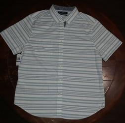 Nautica Mens Classic Fit Short Sleeve Shirt In Mixed Stripe,