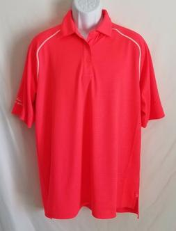 Under Armour Mens Large Loose Pink Short Sleeve Golf Polo Sh