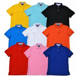 Tommy Hilfiger Mens Polo Shirt Interlock Custom Fit Casual T