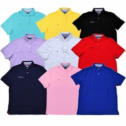 138039d01 Tommy Hilfiger Mens Polo Shirt Solid Classic Fit Interlock T