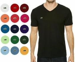 MENS LACOSTE S/S REGULAR FIT PIMA JERSEY V-NECK T-SHIRT, PIC