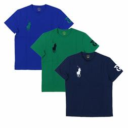 Polo Ralph Lauren Mens T-Shirt Crew Neck Embroidered Big Pon