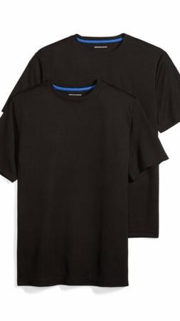 Mens T-shirts amazon essentials performance wear 2 pack Blac