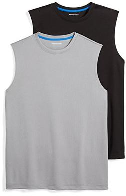 Amazon Essentials Men's 2-Pack Performance Muscle T-Shirts,