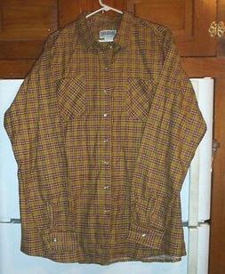 N.o.s.? Haband Vintage style 80% cotton flannel shirt with p