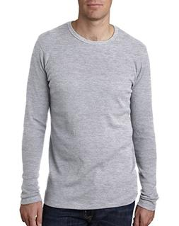 NEXT LEVEL N8101 Men's Long-Sleeve Thermal - Large - Heather