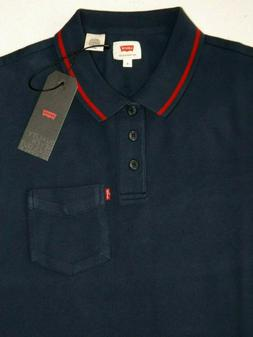 $$$ NAVY Blue Levi's Short Sleeve Men's Polo Shirt 360210013