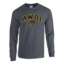 Elite Fan Shop NCAA Men's Iowa Hawkeyes Long Sleeve Shirt Da