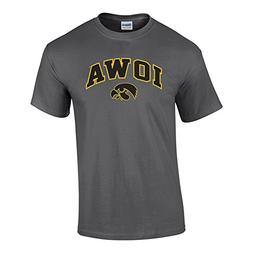 Elite Fan Shop NCAA Men's Iowa Hawkeyes T Shirt Dark Heather