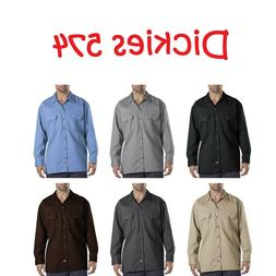New Dickies 574 Mens Long Sleeve Shirt Button Front Formal W