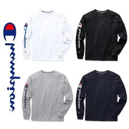 New Authentic Champion Men Jersey Sleeve Script Logo Long Sl