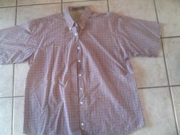 NEW HAGGAR Generations Size XL Men's Plaid Shirt NWOT