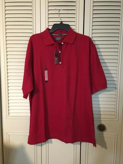 NEW HAGGAR GOLF COOL 18 MEN'S SIZE  COTTON/POLYESTER RED  PO