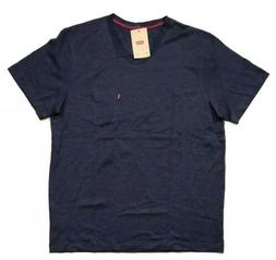 NEW Levi's Men's V-Neck T-Shirt w/ Pocket,Dress Blue, Sz Med