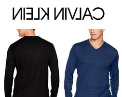 SALE! Calvin Klein Men's Double Collar Long Sleeve V-Neck Sh