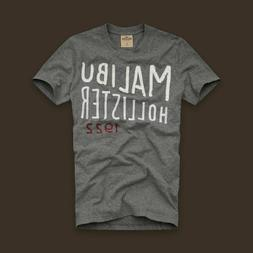 NEW Hollister @ Men's T-Shirt Grey Classic Collection Cotton