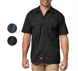 Dickies NEW Mens Button Down Twill Flex Wrinkle Resistant In