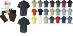 NEW Mens Short Sleeve LIGHT Colors Uniform WORK SHIRT Red Ka