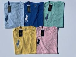 NEW Polo Ralph Lauren Mens T-Shirt Crew Neck Embroidered Big