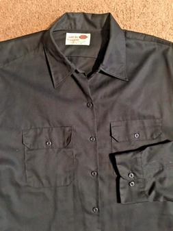 NWOTS! DICKIES, MEN'S SZ 2X - TALL, DARK NAVY, L/S WORK SHIR