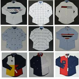 NWT Men's Tommy Hilfiger Button Front Long Sleeve Casual Shi