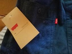 NWT Men's Levi's Blue Collared Long-Sleeve Button Down Shirt