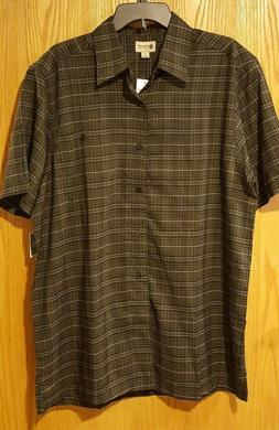NWT Men's Haggar Short Sleeve Woven Shirt size LT Big & Tall