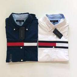 NWT Tommy Hilfiger Men's Signature Stripe Cotton Oxford Long