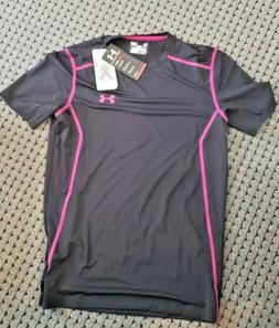 NWT UNDER ARMOUR Men's Small Fitted Heat Gear Athletic Black