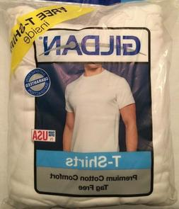 NWT Men's Gildan T-Shirt Cotton White Colored Multi Pack Var
