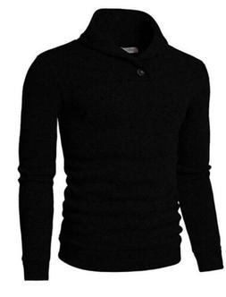 NWT Men's H2H Casual Slim Fit Pullover Sweater/Black -Size