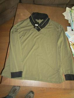NWT Mens YTD Exclusive Style Dress Shirt Size 2XL Olive Gree