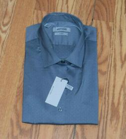 NWT Mens Kenneth Cole Reaction Gray Slim Fit LS Dress Shirt