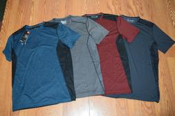NWT Mens UNDER ARMOUR Heat Gear Mesh Fitted Shirt Gray Black