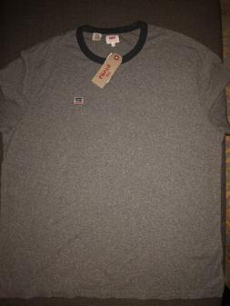 NWT Men's Levi's Bernal Ringer T Shirt Gray Sz 2XL $30 F